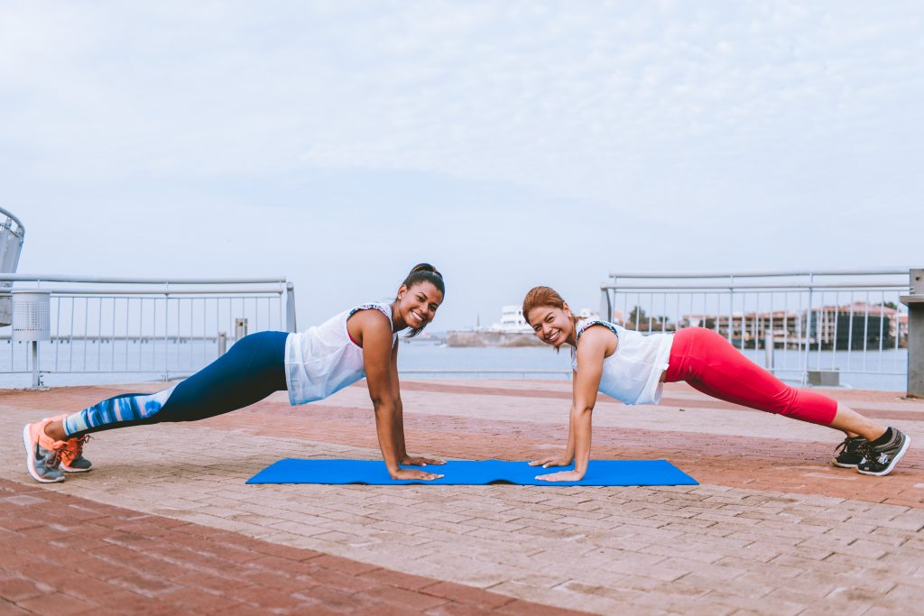 active rehab training at the beach