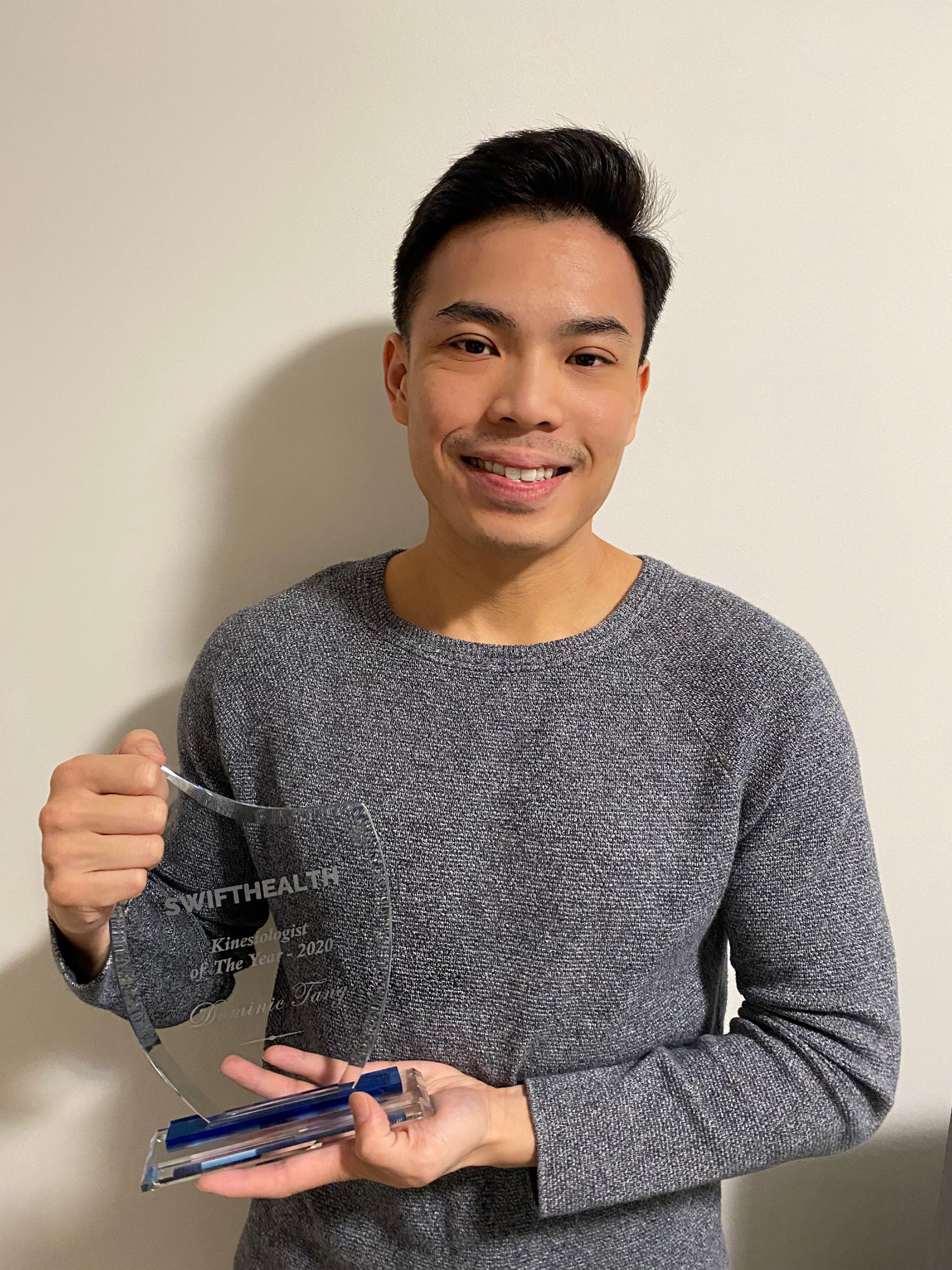 2020 Kinesiologist of the year dominic tang Swift Health