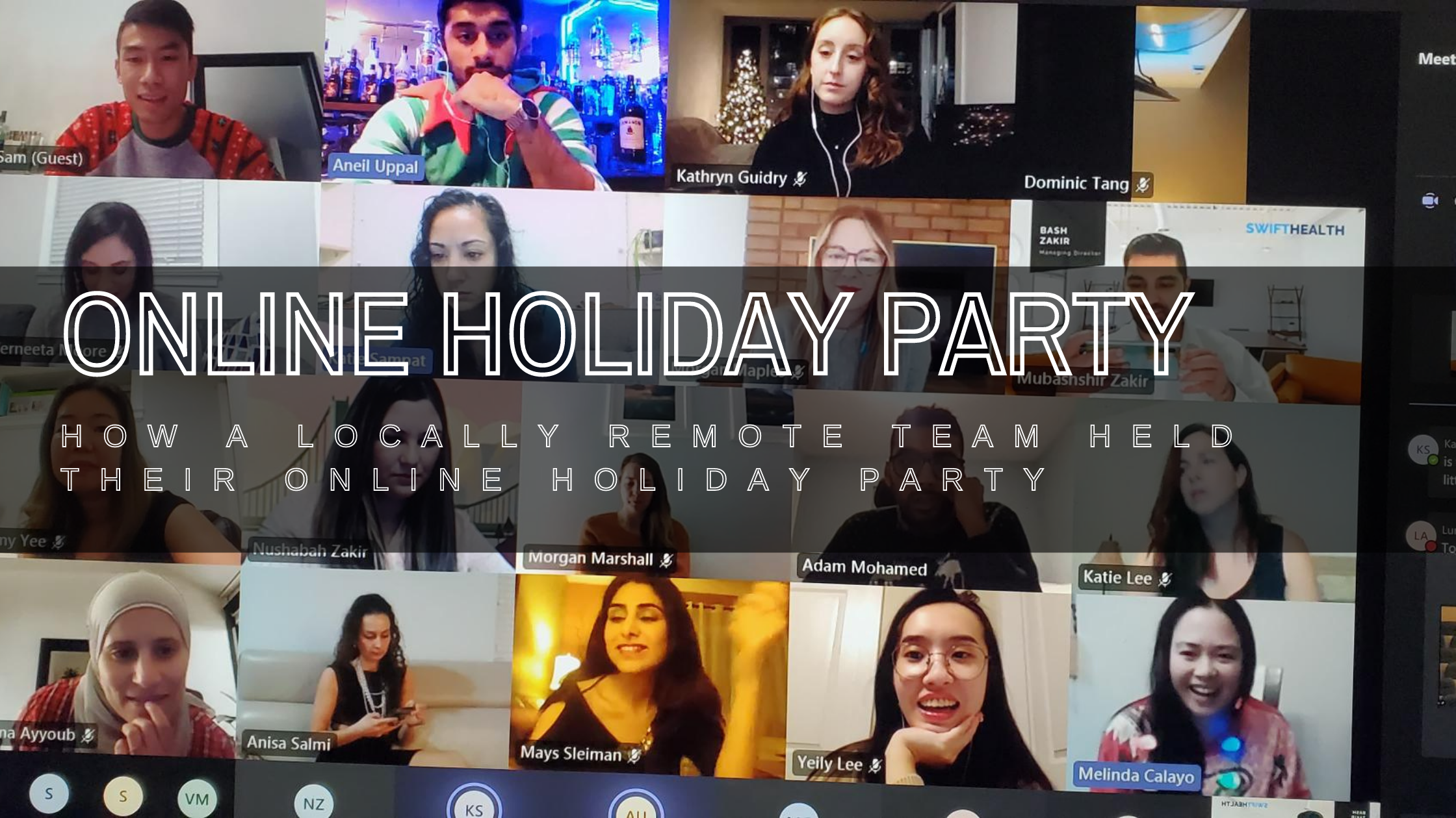 Online Holiday Party 2020 Blog Post Banner